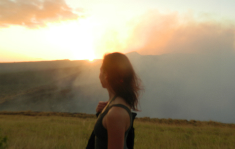 Sarina on the Masaya Volcano Sunset Hike in Nicaragua 