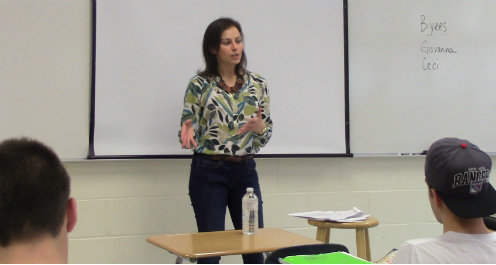 Sarina as a Class Speaker for High School Seniors at Half Hollow Hills West, Dix Hills, NY 4/2014