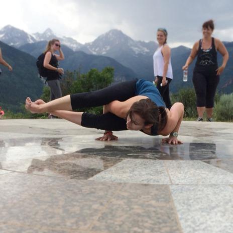 yoga pose - Wanderlust